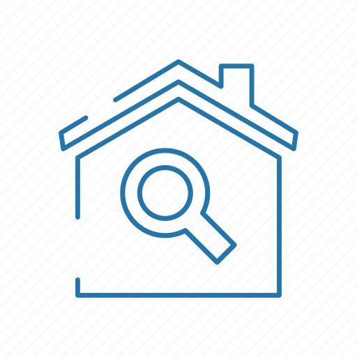 business, estate, house, real, search icon