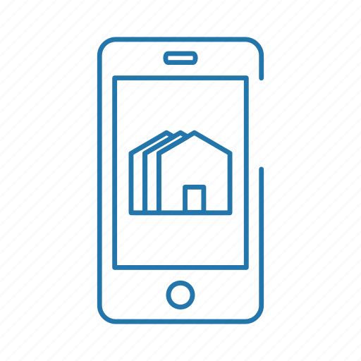 estate, home, online, real, smartphone icon