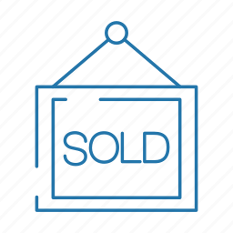 business, estate, house, real, sold icon