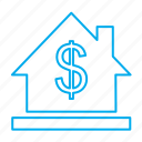 bank, building, estate, map, real, rent, sale icon