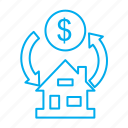 building, estate, house, real, sale icon