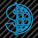 dollar, logo, real estate, world icon