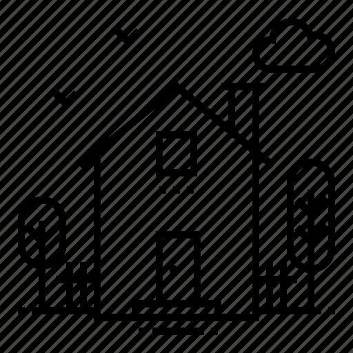 building, construction, cottage, estate, home, house, property icon