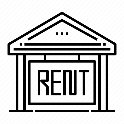 estate, house, house for rent, lease, property, rent, rental icon