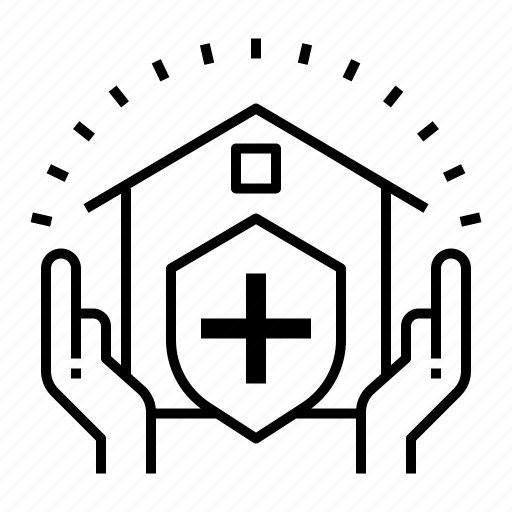 asset, estate, home, house, insurance, property, protect icon