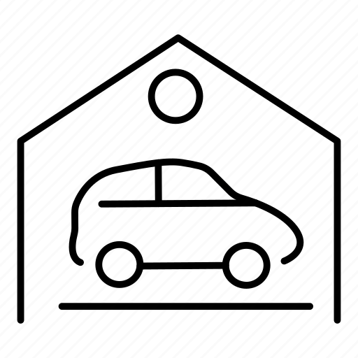 cars, garage, transport, vehicle icon