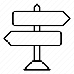 arrow, board, direction, pointer icon