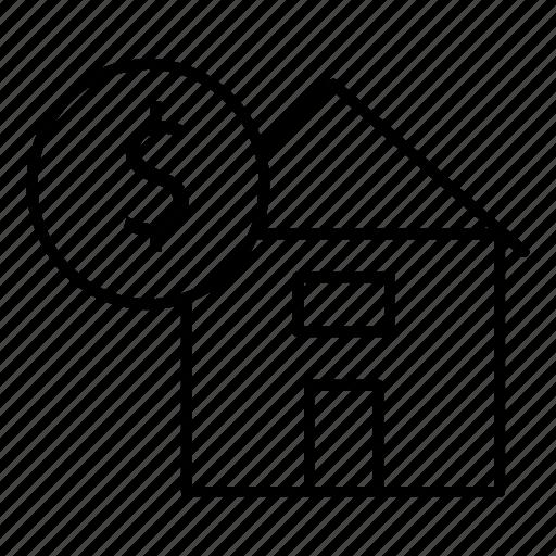 bank, estate, real, saving icon