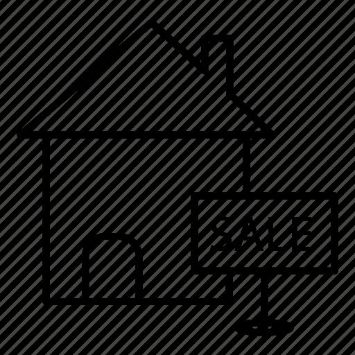 board, estate, real, sale icon