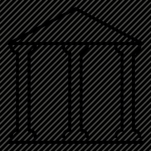 bank, building, estate, finance icon