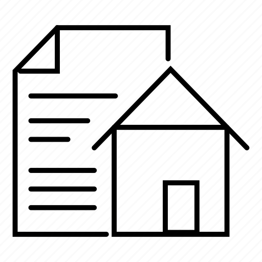 document, file, home, house icon