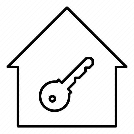home, key, lock, property icon