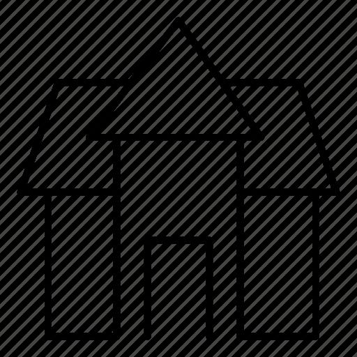 building, estate, hotel, property icon