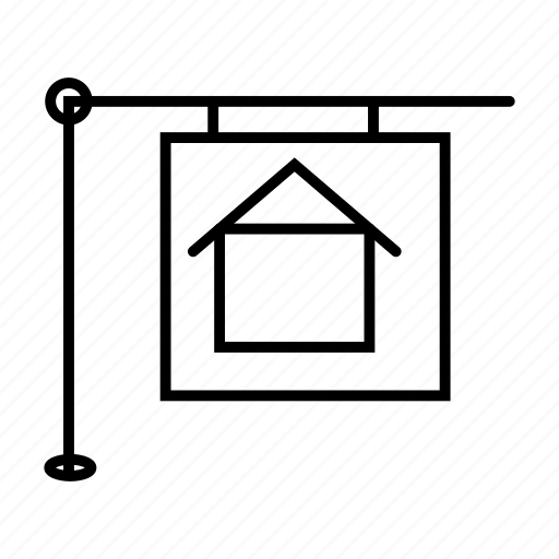 banner, board, house, poster icon