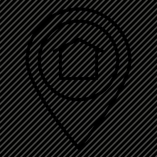 locators, map, marker, pin icon