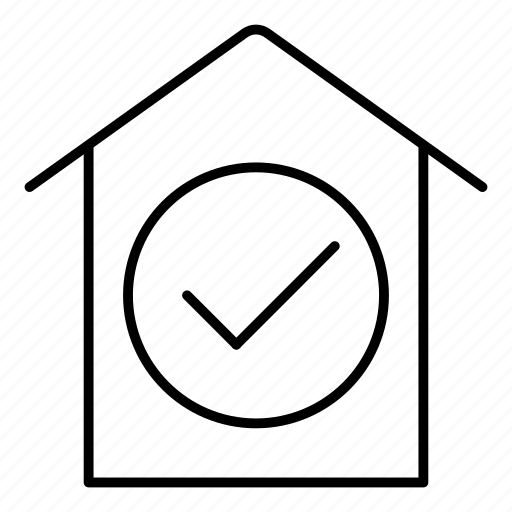 estate, home, house, tick icon
