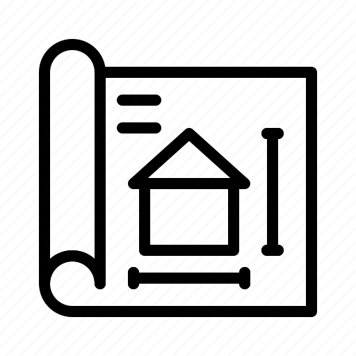 blueprint, design, home, house, plan, property, real estate icon