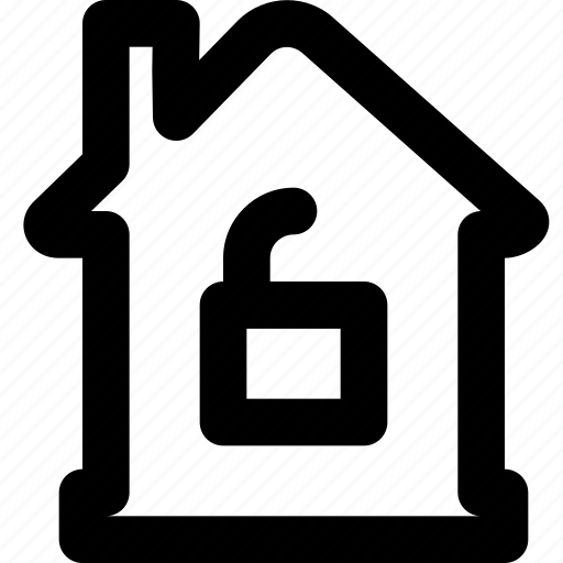 estate, home, house, property, real, unlocked icon