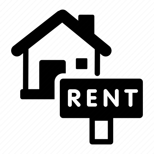 house, real estate, rent, sign icon