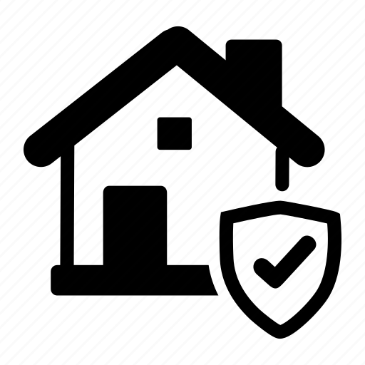 business, home, property, real estate, secured icon