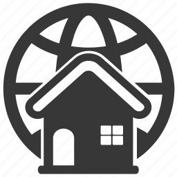accommodation, apartment, global, house icon