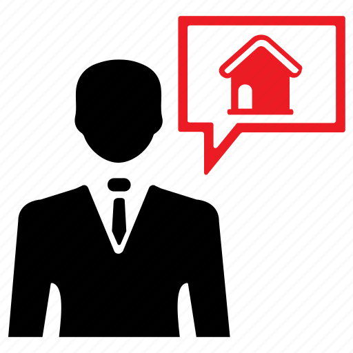 agent, broker, building, estate, home, property, realtor icon