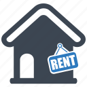 estate, fence, for rent, property, rent icon