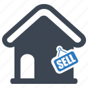 estate, finance, home value, investment, sell, sold icon