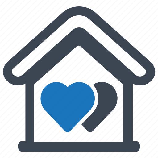 apartment, favourite, heart, home, house, interface icon