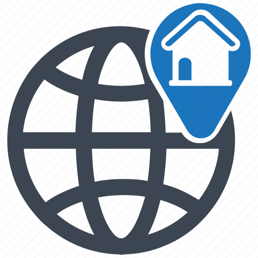 address, direction, globalization, gps, location, pin icon