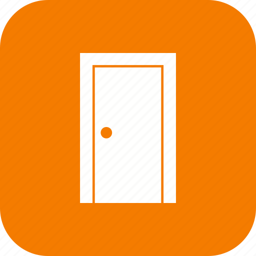 door handle, front door, gate, house door, office door, open door, wooden door icon