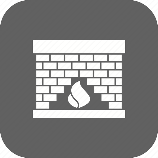 chimney, fire, flame icon
