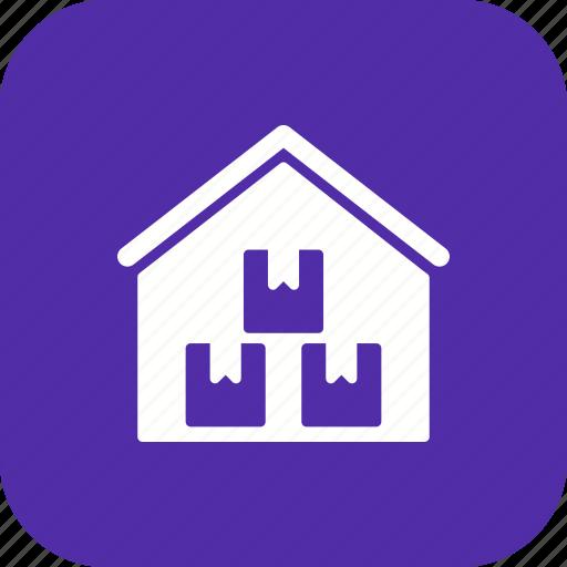 storage house, storage unit, warehouse icon