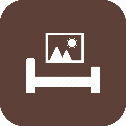 bed, living room, room icon