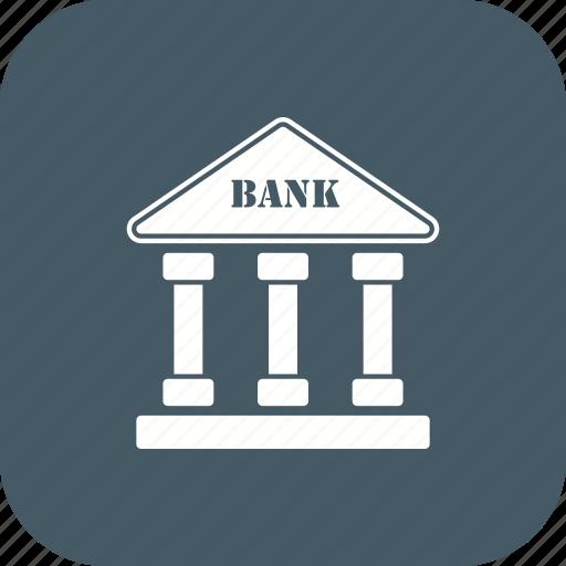 bank, banker, building, finance icon