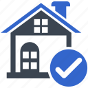 accepted, agreement, home, home loan, loan approve icon