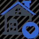 favorite, heart, house, love, real estate