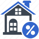 discount, home, loan, mortgage, property icon