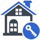 access, home, house, key, property, security icon