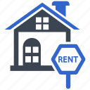 home, property, rent, sign, sign board icon