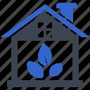 garden, house, plant, plantation