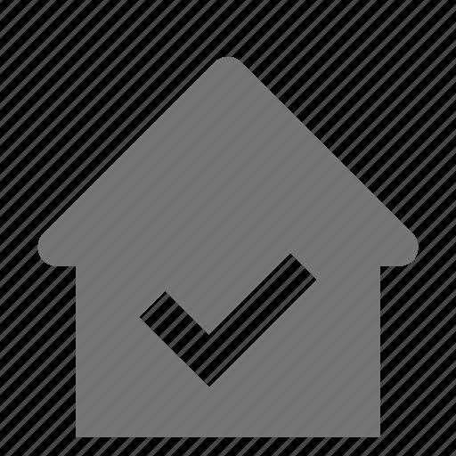check, home, house, select icon