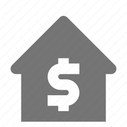 dollar, home, house, money icon