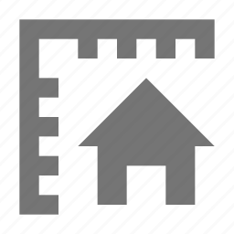 grid, home, house, measurements, ruler icon