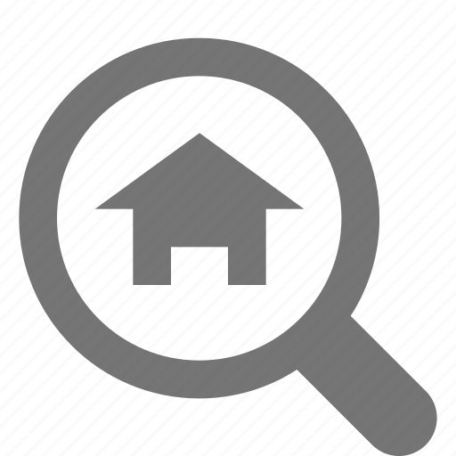 home, house, real estate, search, view icon