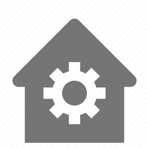 configuration, gear, home, house, settings icon
