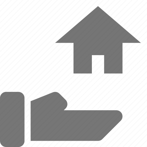 hand, home, house, real estate, share icon