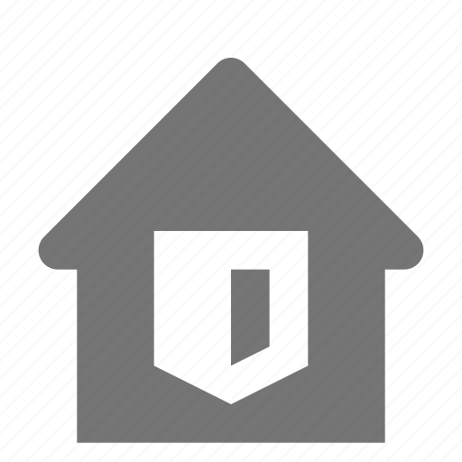 home, house, security, shield icon