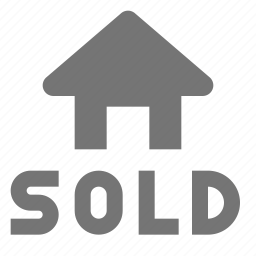 home, house, real estate, sold icon