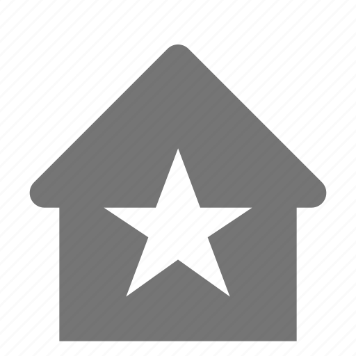 favorite, home, house, star icon